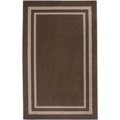 Mainstays Frame Border Area Rugs or Runner Available In Multiple Colors And Sizes, Brown
