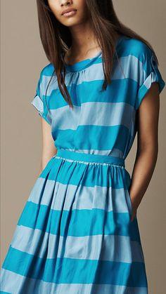 Striped Silk Blouse | Burberry