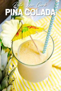 If you like Keto Pina Colada's…. I got you thinking about that song didn't I? I personally love the taste […] Protein Shake Recipes, Smoothie Recipes, Protein Smoothies, Fruit Smoothies, Pina Colada, Low Carb Keto, Low Carb Recipes, Healthy Recipes, Low Carb Cocktails