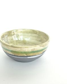 Natura Green & Grey Bowl by Enea Calonaci | shop more of the collection at http://www.giardinidisole.com/shop-tabletop-ceramics