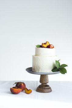 Summer Cake: chocolate cake, mascarpone, mango, raspberries and vanilla buttercream.