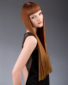 Professional Hair Photography from Blanc Creative - High quality professional hair photography for the L'oreal Colour Trophy. Wavy Bob Haircuts, Bob Haircut With Bangs, Hairstyles With Bangs, Cool Hairstyles, Hairstyle Ideas, Hair Ideas, Long Red Hair, Short Wavy Hair, Competition Hair