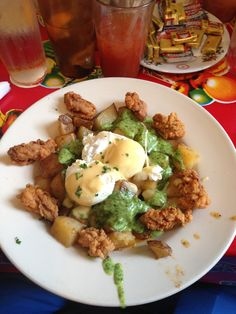 Elizabeth's in New Orleans, LA- Brunch Breakfast Tacos, Breakfast Recipes, Southern Recipes, New Orleans, Bacon, Brunch, Restaurant, Dinner, Food