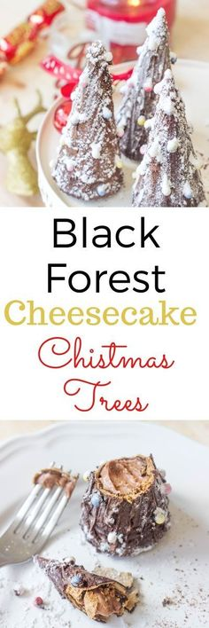 Black Forest Cheesecake Christmas Trees | Flavours and Frosting | http://flavoursandfrosting.com/black-forest-cheesecake-christmas-trees/