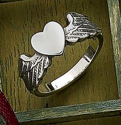 A simple heart flanked by open wings captures the feeling of love and the way the heart is lifted with every beat. Try pairing this design with our Let Love Soar Necklace to create a matching set. Cute Jewelry, Jewlery, Unique Jewelry, James Avery, Feeling Loved, Bohemian Gypsy, Christmas Time, Heart Ring, Classy