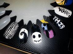 Nightmare Before Christmas/ Jack Skellington Nails. $10.00, via Etsy.