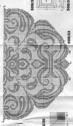 Kira scheme crochet: Scheme crochet no. Crochet Doily Diagram, Filet Crochet Charts, Freeform Crochet, Crochet Motif, Crochet Designs, Crochet Lace, Doily Patterns, Weaving Patterns, Crochet Patterns