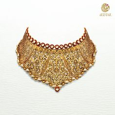 Azva embarks on an inspiring journey in its quest for excellence and crafts inspiring bridal gold jewellery that is modern and skillfully handcrafted. Checkout our remarkable jewellery collection! Gold Temple Jewellery, Gold Jewelry, Antique Jewellery, Jewelry Art, Fashion Jewelry, Cute Jewelry, Wedding Jewelry, Indian Jewelry Sets, India Jewelry