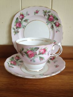 Vintage Colclough Bone China Trio Tea cup saucer plate