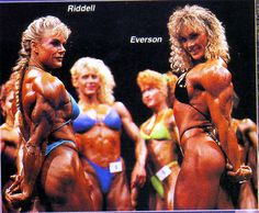 Sandy Ridell and Cory Everson, Ms Olympia 89.
