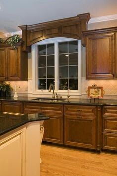 Wood Valance Over Kitchen Sink. Wood Valance Over Kitchen Sink For A Great Detail