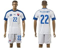 2016 European Cup Slovakia Home Skrtel White Men s Soccer Shirt Kit f6220fa9e6f