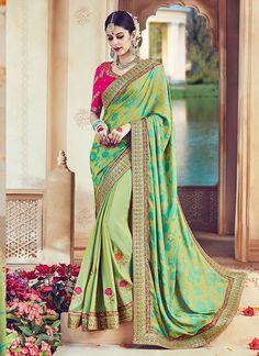 Shop Online Green Silk #FancySilkSaree