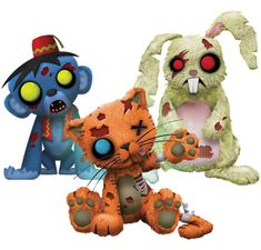 Creepy Cuddlers Zombies Plush Set Series 2