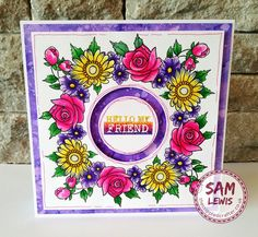 Using Masking Fluid to overlap stamps. by Sam Lewis AKA The Crippled Crafter Tim Holtz Stamping Platform, Spectrum Noir, Masking, Cardmaking, Daisy, Stamps, Drawings, Cards, Inspiration