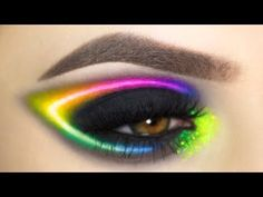 Rainbow Neon | Eye Make Up Tutorial - YouTube