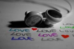Headphones on love words Free High definition wallpaper Iphone Wallpaper Music, Black Phone Wallpaper, Cute Girl Wallpaper, Girl With Headphones, Music Headphones, Cover Pics For Facebook, Facebook Timeline, Phone Background Patterns, Headpieces