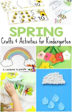 Here are 50+ spring crafts and activities for kids, ranging from free printables, games, coloring pages, art projects and more for spring fun!
