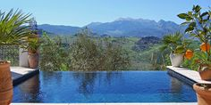 Self-catering villa near Ronda, Andalucia, Spain. Luxury award winning Villas in the romantic and peaceful mountain village of Montecorto just outside the City of Ronda. Andalucia Spain, House On The Rock, Plunge Pool, Floating In Water, Stunning View, Spain Travel, Swimming Pools, Places To Go, Explore