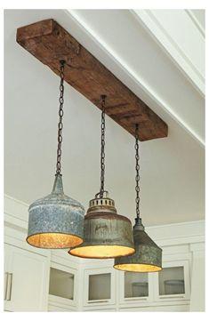 Vintage Industrial Lighting, Antique Lighting, Rustic Lighting, Rustic Industrial, Lighting Ideas, Industrial Office, Industrial Furniture, Club Lighting, Rustic Wood