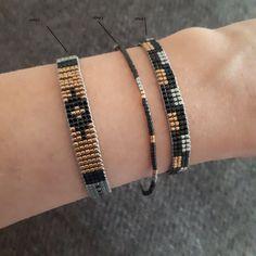 Black Miyuki Beaded Bracelet for women Miyuki beads bracelet for her Jewelry gift for her Handmade Jewelry Delicate beadsAdams Jewels Loom Bracelet Patterns, Bead Loom Bracelets, Gold Bracelets, Bracelet Designs, Colorful Bracelets, Bracelets Wrap En Cuir, Gifts For Women, Gifts For Her, Jewelry Gifts