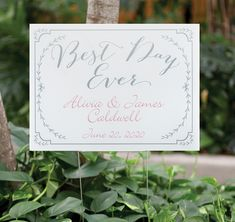 Guide your guests to your wedding reception with this personalize-able Rustic Vines Yard Sign.