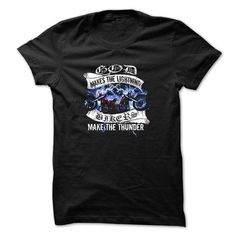 Motorcycles t-shirt - Bikers make the thunder - #sweater vest #sweater refashion. GUARANTEE => https://www.sunfrog.com/Automotive/Bikers-make-the-thunder.html?68278