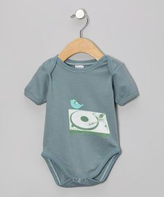 This Slate DJ Bird Organic Bodysuit - Infant by Small Plum is perfect! #zulilyfinds