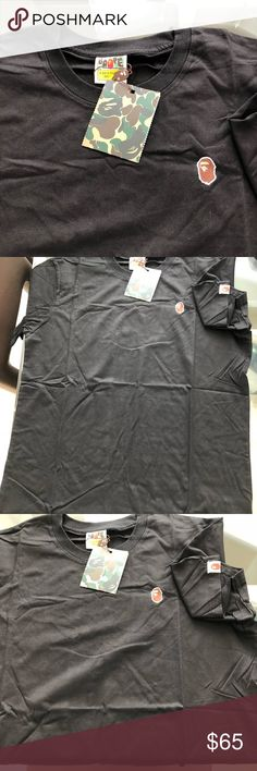 Bape tee shirt - bran new - have 2 size L & XL Brand new authentic T-shirts was a Christmas present for my son runs too small Bape Shirts Tees - Short Sleeve