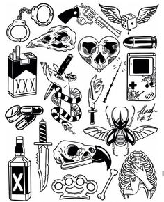 Thank you everyone that participated in my flash tattoo sale and helped me to promote and celebrate the new flash sheets! These designs… Flash Art Tattoos, Tattoo Flash Sheet, Body Art Tattoos, New Tattoos, Sleeve Tattoos, Arabic Tattoos, Dragon Tattoos, Tattoo Geek, Kritzelei Tattoo