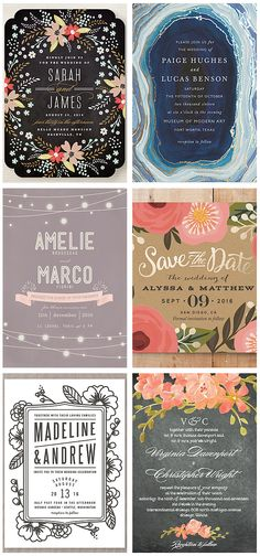 Stylish Invitations for your wedding, party, and/or shower!