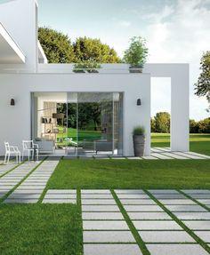 Less is more white on pinterest sou fujimoto - Garden floor tiles design ...
