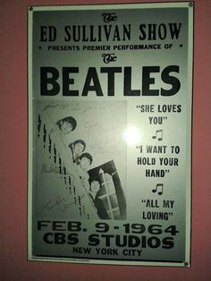 on Sullivan on Febuary All My Loving, She Loves You, News Studio, Cbs News, The Beatles, You And I, Love Her, Happy Birthday, Songs
