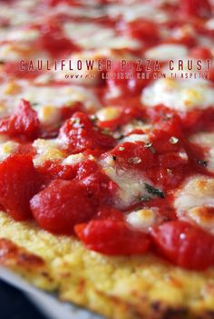 Cauliflower Pizza Crust, ricetta in italiano