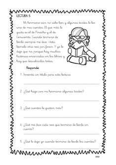 Mini lecturas comprensivas infantil y primaria temática LOS CUENTOS -Orientacion Andujar Elementary Spanish, Spanish Class, Learning Spanish, 5th Grades, Reading Comprehension, It Cast, Bullet Journal, Classroom, How To Plan