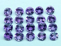 Masterpiece Natural African Amethyst Purple 2 MM Cut Round (10)Loose Gem Lot AAA