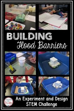 STEM Challenge: A Fabulous experiment and design challenge! Kids experiment with absorbent materials and then use the test results to design a flood barrier. Details and a video on my blog! Middle School Science, 4th Grade Science, Elementary Science, Science Classroom, Teaching Science, Stem Science, Science Education, Teaching Ideas, Classroom Ideas