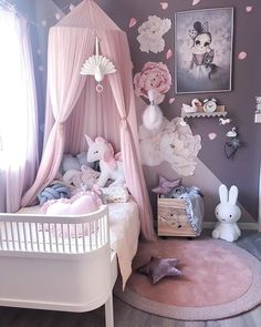 Pretty in pink and completely dream like Little Girls Room completely Dream Kinderkamer pink Pretty Baby Girl Room Decor, Baby Room Design, Childrens Room Decor, Baby Bedroom, Kids Bedroom Designs, Bedroom Ideas, Toddler Rooms, Little Girl Rooms, Instagram