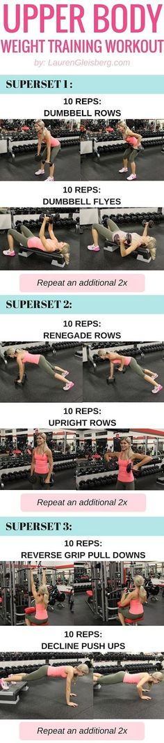 """UPPER BODY WEIGHT TRAINING WORKOUT FOR WOMEN 