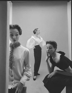 Ivy, Sophia and Bettina, February 1952.  Photo: Nat Farbman for LIFE magazine.