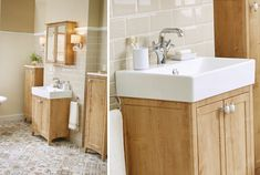 Quantum square slabtop basin, savio basin mixer tap, biscuit brick bathroom wall tiles and bohemian beiges bathroom floor tiles #downton #downtonshaker #bathroomfurniture #myutopia