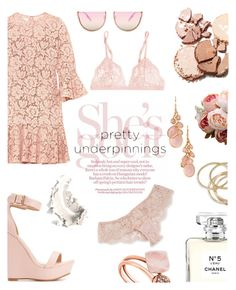 """""""Pretty underpinnings"""" by feiartus ❤ liked on Polyvore featuring Valentino, Charlotte Russe, La Perla, Michael Kors, I.D. SARRIERI, Avon, Chanel, ABS by Allen Schwartz and prettyunderpinnings"""