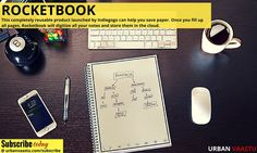 Rocketbook can save you from the hassles of constantly buying new notebooks and you can contribute in your own way towards saving environment.