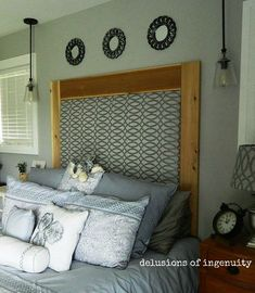 diy upholstered headboard, bedroom ideas, how to, reupholster
