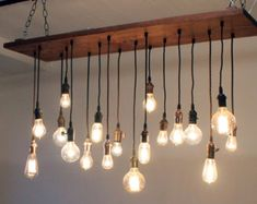 Urban Chic Chandelier with reclaimed wood Now In von urbanchandy (Diy Kitchen Lighting)