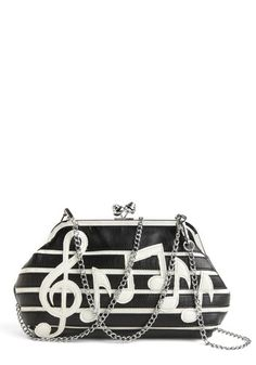 Sweet Music Clutch | Mod Retro Vintage Bags | ModCloth.com - StyleSays