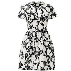 Rental kate spade new york Chesire Dress ($85) ❤ liked on Polyvore featuring dresses, white floral print dress, white full skirt, white bow dress, open back dress and floral print dress
