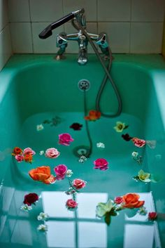 flowers in your bath