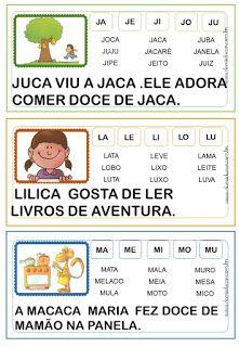 FICHAS DE LEITURA DE PALAVRAS : ALFABETIZAÇÃO - Danieducar Jamel, Bingo, Professor, Vocabulary, Homeschool, Activities, Writing, How To Plan, Learning