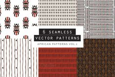 African Seamless Patterns by Youandigraphics on Website Themes, Photoshop Brushes, Vector Pattern, Textures Patterns, Free Design, African, Branding, Graphic Design, Marketing